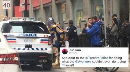 Toronto Police busted 'Thanos' and 'Avengers: Infinity War' fans couldn't be happier