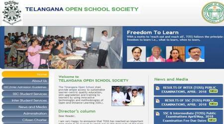 TOSS SSC, Inter results 2018 declared at telanganaopenschool.org
