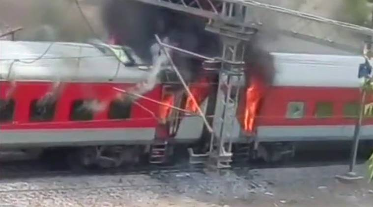 Two coaches of Andhra Pradesh Express catch fire in Gwalior
