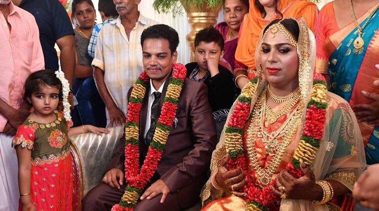 transgender couple marriage, transsexual couple Kerala, Kerala transsexual couple marriage, transsexual couple, kerala transgender policy, transgender policy kerala, Ishan and Surya marriage, latest India news