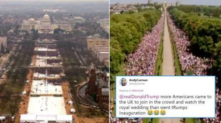 Royal Wedding 2018 guests vs Donald Trump's inaugural crowd: JK Rowling joins the debate