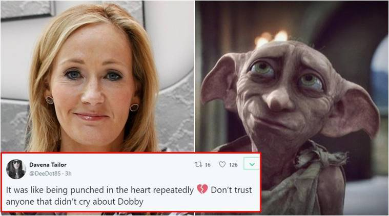 JK Rowling, harry potter, JK Rowling Harry Potter, JK Rowling killing Dobby the house elf, Dobby, Dobby the house elf, Battle of Hogwarts, Battle of Hogwarts may 2, Battle of Hogwarts anniversary, Indian express, Indian express trending news