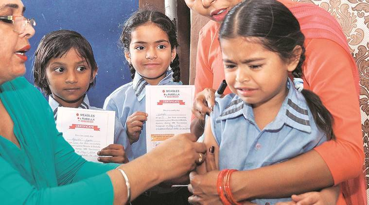 Image result for Measles-rubella vaccine drives to be conducted in govt schools