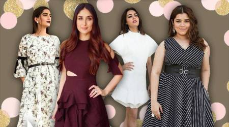 Veere Di Wedding promotions: Kareena turns up the heat in a burgundy ruffle dress, Sonam keeps it chic in a floral midi