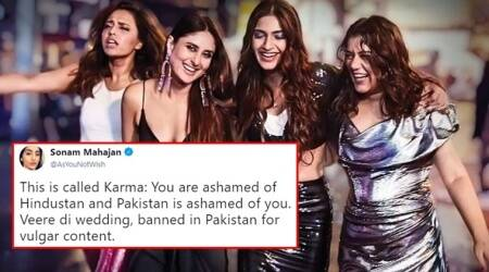 veere di wedding, veere di wedding pakistan ban, veere di wedding ban, veere di wedding kareena kapoor, veere di wedding kareena kapor sonam kapoor, veere di wedding ban in Pakistan, veere di wedding pakistan ban movie, veere di wedding vulgar dialogues pakistan ban, Indian express, Indian express News