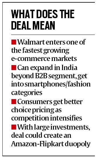 flipkart, walmart, walmart buys flipkart, e commerce, online retail, alibaba, amazon, indian express