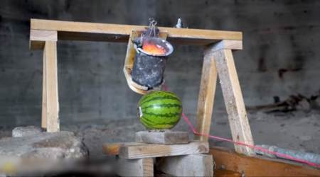 VIDEO: Love watermelons? What if molten salt was poured onto the summer fruit?