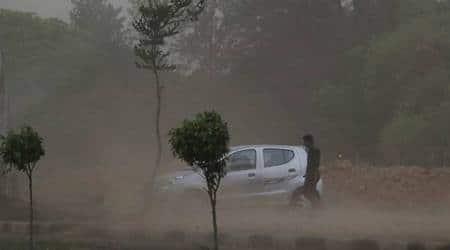 thunderstorm, weather prediction, north india, met dept, thunder storm, dust storm, rain, imd, western disturbances, indian express