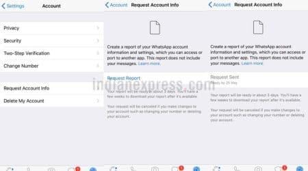 WhatsApp, WhatsApp Account Info, WhatsApp Request Account Info, WhatsApp new feature, WhatsApp iOS feature, WhatsApp download data