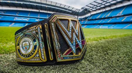 WWE presents Manchester City with custom-made Championship belt for Premier Leaguesuccess