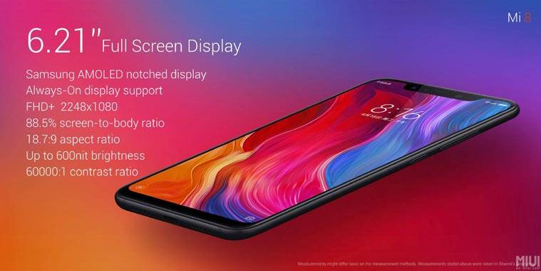 Image result for xiaomi mi 8 specs and price
