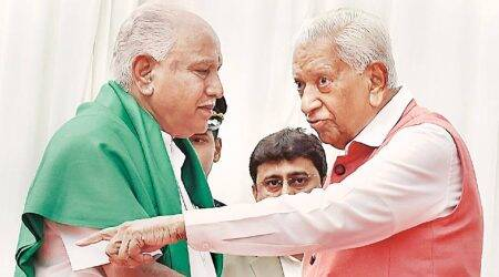 Before the floor test, what are the options before BS Yeddyurappa to remain Karnataka CM
