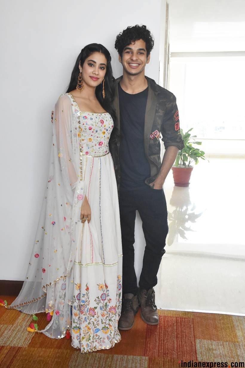 janhvi kapoor and ishaan khatter in jaipur