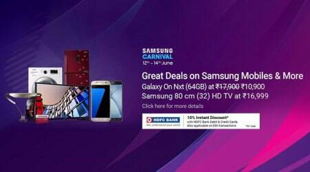 Samsung Carnival on Flipkart: Discounts on Galaxy S8, S8+, Galaxy On Nxt, and more