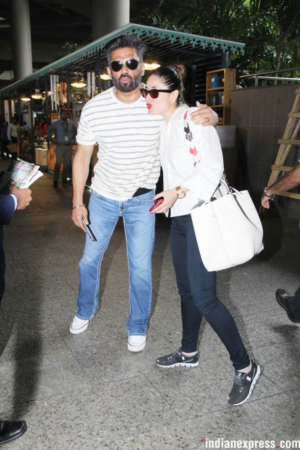 kareena kapoor khan with suniel shetty