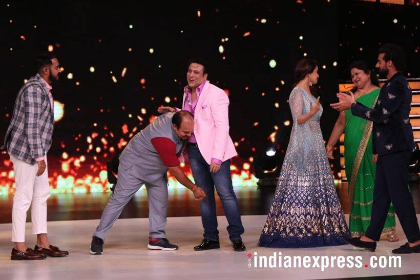 sanjeev srivastava aka dancing uncle on madhuri dixit dance deewane