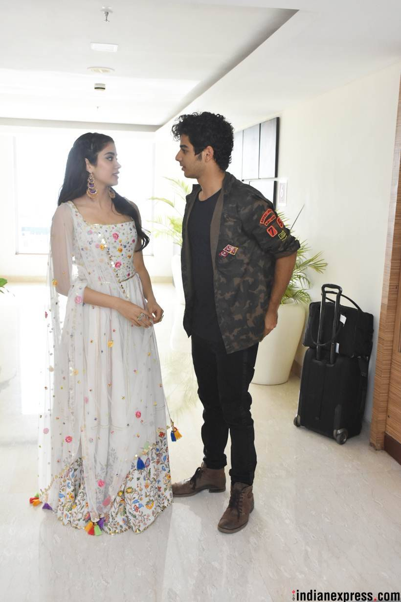 janhvi kapoo and ishaan khatter at dhadak song launch