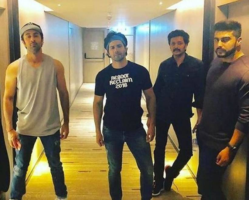 ranbir kapoor, varun dhawan and arjun kapoor in IIFA 2018
