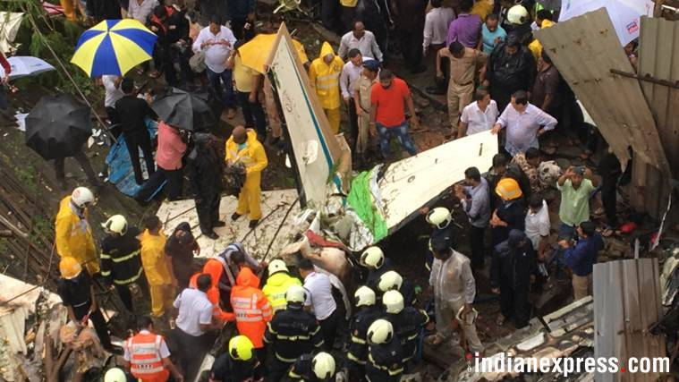 Chartered plane crashes in Mumbai's Ghatkopar; 5 people feared dead