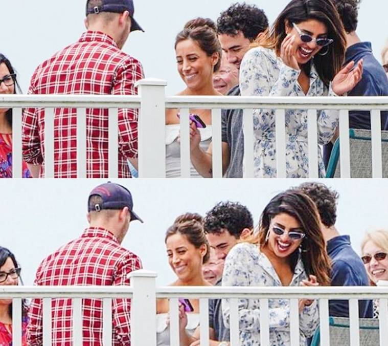 Priyanka Chopra Nick Jonas hanging out together