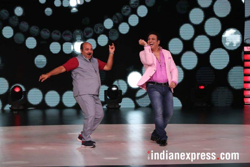 sanjeev srivastava aka dancing uncle and govinda photos