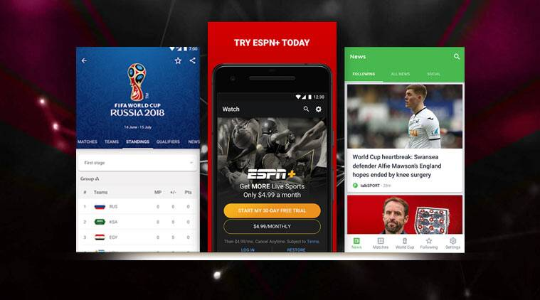 fifa world cup 2018, fifa world cup 2018 russia, fifa world cup 2018 android apps, fifa world cup 2018 iOS apps, 2018 FIFA World Cup Russia, ESPN, Sony LIV, JioTV, Onefootball, android, iOS, fifa 2018