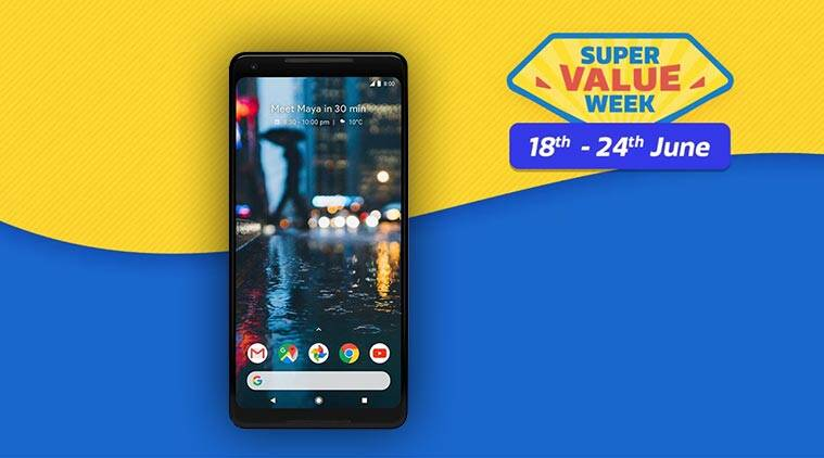 Flipkart, Google Pixel 2 XL, flipkart sale, pixel 2 xl for 9999, Flipkart Super Value Week, Flipkart Offer, Flipkart Super Sale, flipkart offers today, flipkart super value sale, Flipkart BuyBack guarantee, Flipkart BuyBack guarantee scheme, Google Pixel 2 XL Discount, google pixel 2 xl sale catch, Flipkart Pixel 2 XL discount, Google Pixel 2 Price, Google Pixel 2 Flipkart