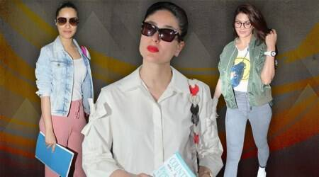 airport fashion, airport style, Kareena Kapoor Khan, Jacqueline Fernandez , Shraddha Kapoor, Janhvi Kapoor, Anushka Sharma, viral kohli, celeb fashion, bollywood fashion, indian express, indian express news