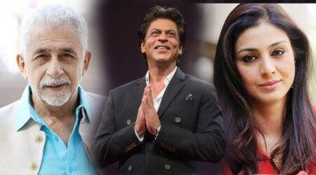 Tabu, Shah Rukh and Nasheeruddin picture.