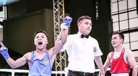 Nutlai Lalbiakkima lands knockout punch on Olympic champion HasanboyDusmatov