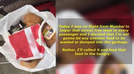 This Mumbai resident collected uneaten food from a flight to feed the needy