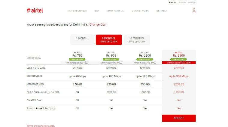 airtel, airtel broadband plans discount, jio effect airtel broadband plans 20 percent discount, jio fiber, airtel broadband plans offer delhi, airtel broadband plans offer mumbai, telecom, jio