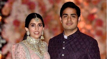Akash Ambani-Shloka Mehta pre-engagement party: The couple looks every bit regal