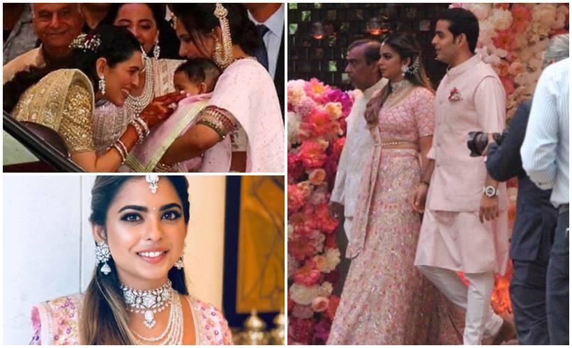 Akash Ambani, Shloka Mehta, and Isha Ambani