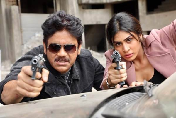 Officer stars Akkineni Nagarjuna and Myra Sareen