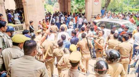 Allahabad varsity students clash with police during protest against order to vacate hostels