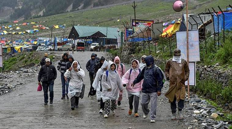 Amarnath Yatra remains suspended due to bad weather