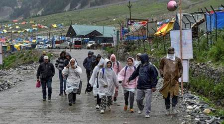 Amarnath Yatra suspended from Jammu due to heavy rains