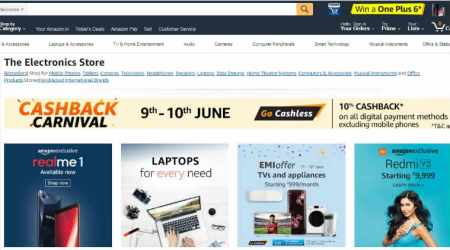 Amazon Cashback Carnival: Get up to 10 per cent off on smartphones and more
