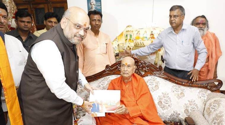 'Sampark for Samarthan' campaign: Amit Shah meets religious heads in Haridwar