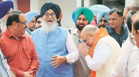 Parkash Singh Badal advice to Amit Shah: Dispel insecurity among minorities