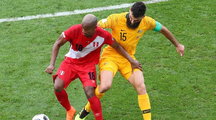 FIFA World Cup 2018, FIFA World Cup 2018 news, FIFA World Cup 2018 updates, Peru vs Australia, sports news, football, Indian Express