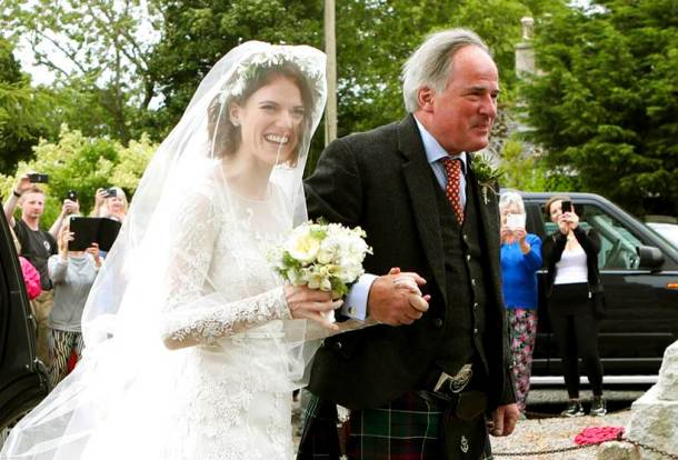 Rose leslie with father