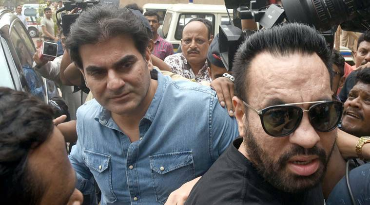 Actor Arbaaz Khan was questioned for more than four hours in Mumbai on Saturday. (Express photo/Deepak Joshi)