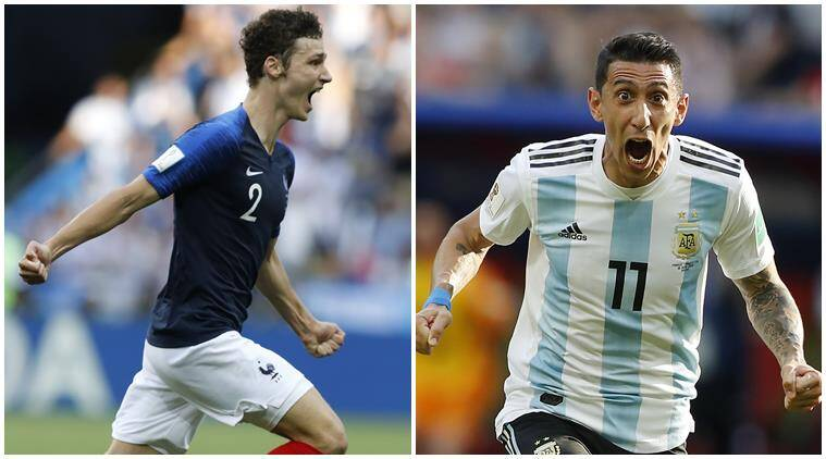 fifa world cup 2018 angel di maria benjamin pavard