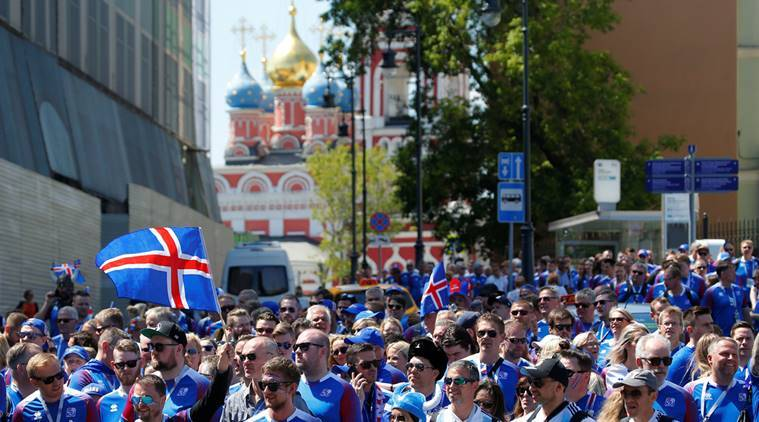 Fans in Iceland celebrate heroic World Cup draw with Viking war chant