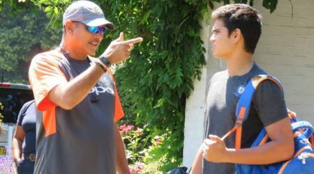 India vs England: Arjun Tendulkar trains with Indian team, receives Ravi Shastri's advice