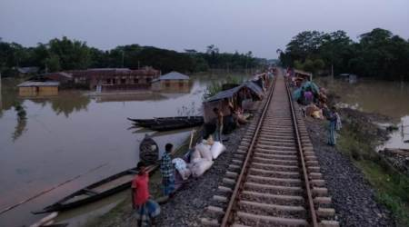 How trains became temporary homes for Assam flood victims