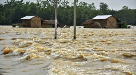 north east floods, assam flood, north east rains, mizoram landslides, tripura landlslides, manipur floods, flash floods, india news, indian express
