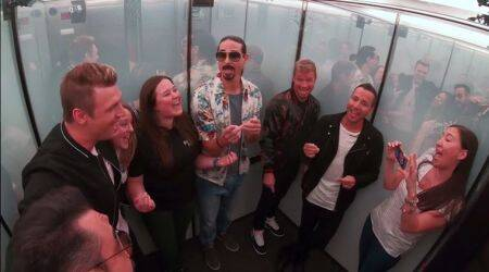 VIDEO: What happens when the Backstreet Boys surprise people in an elevator? Nothing but magic